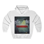 P4P White Hooded Sweatshirt